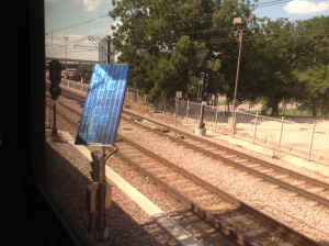 Solar power along the train route.