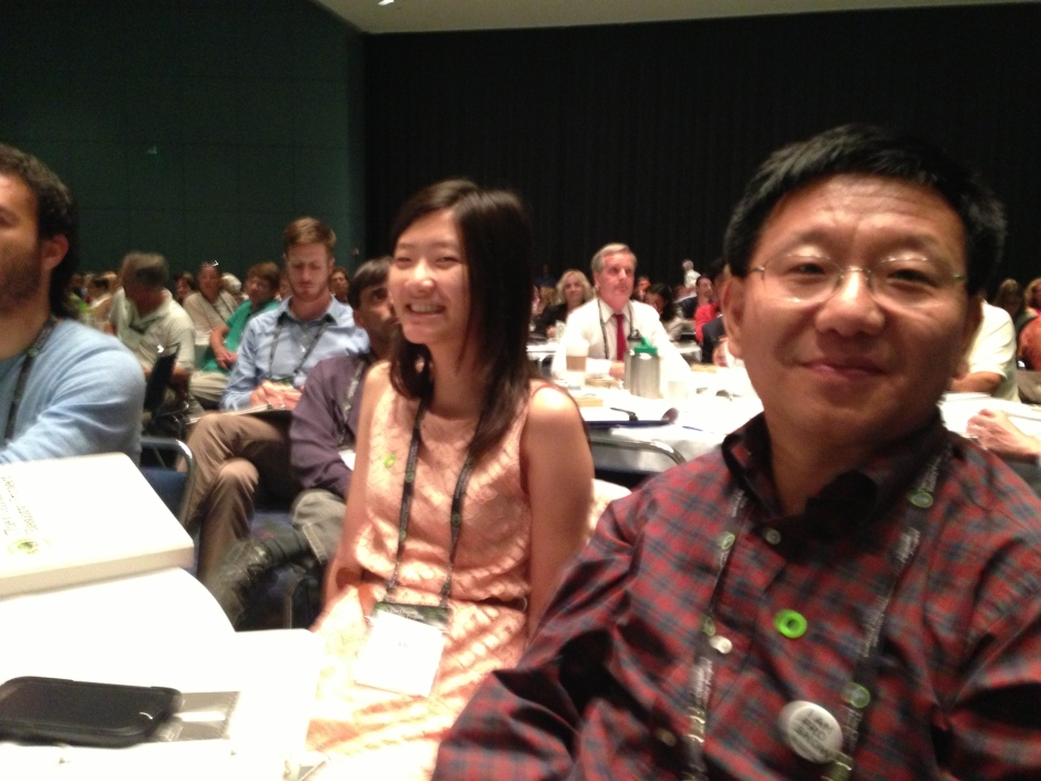 High school student Alice Liu and her father Jin Liu from South Lake, Texas