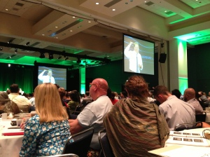 "Al Gore spoke much of the day Thursday.  What a great teacher!  He said, ""We can transcend our habits. """